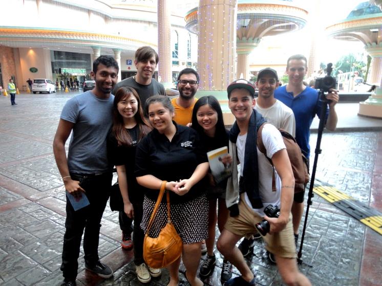 Fellow slogan winners with Nick's team.