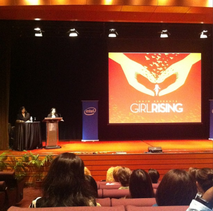 Was surprised by the boyfriend to watch a wonderful documentary called Girl Rising with delegates of the Women Deliver Conference at the KL Convention Centre!