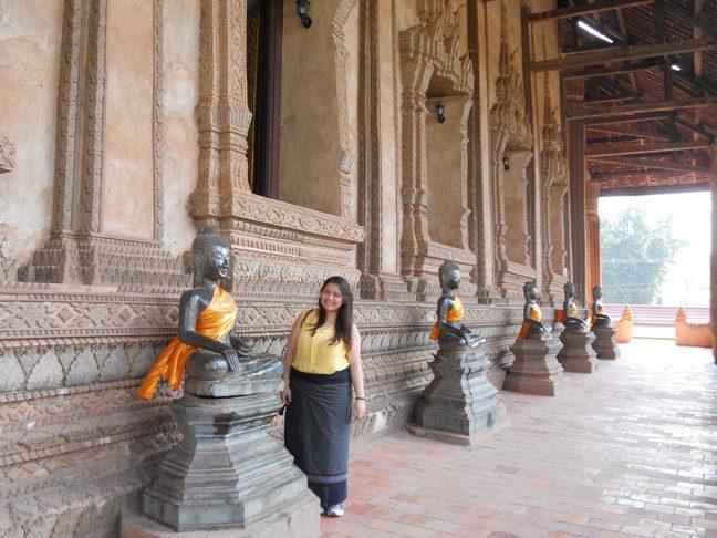 Statues in Haw Phra Kaew temple - Vientiane, Laos