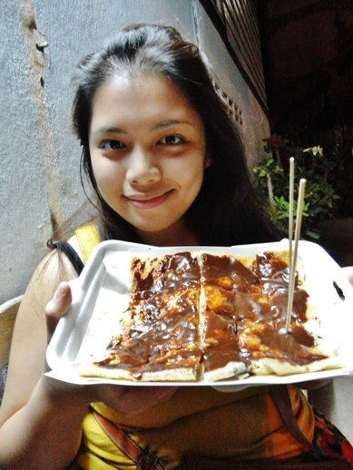 Banana pancake topped with chocolate? Yes please! We had this in Vang Vieng and it was delicious! It cost less than $1!