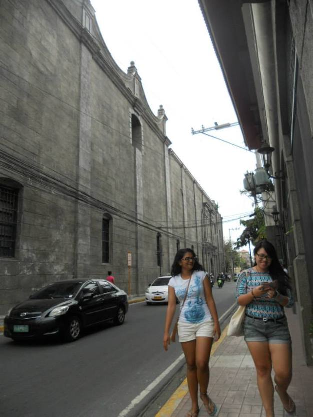 Our time in Manila was mainly of us walking about from one point to another. We walked a lot, A LOT. Here we are walking about in the old city of Intramuros in Manila, Philippines.