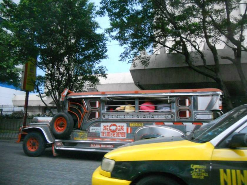 Jeepney is common in Manila. I love how they collect the fare. You basically just pass the fare from one person to another until it reaches that driver, it's fantastic!