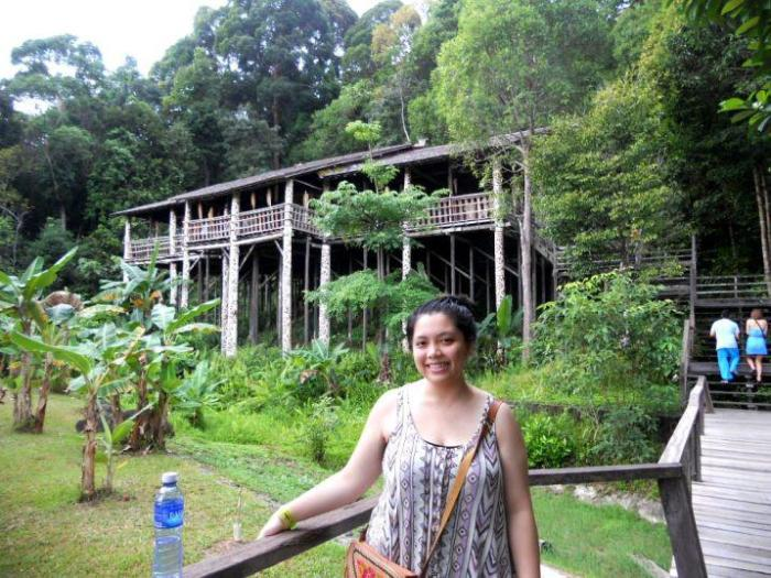 Long house in Sarawak Cultural Village