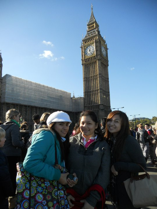 With participants from the Philippines, exploring London.
