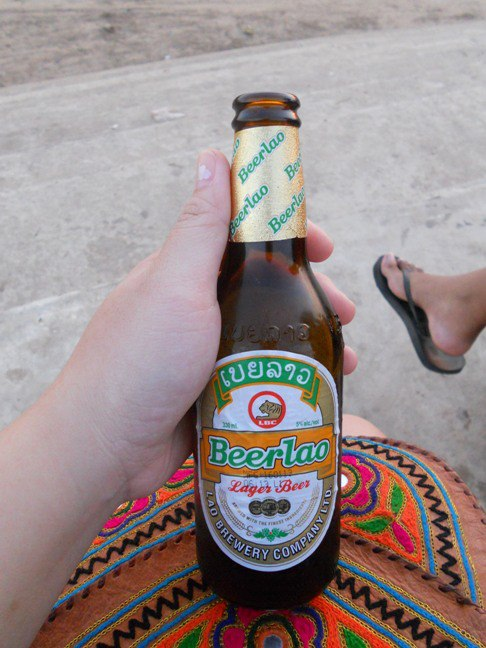 Beer Lao anyone? I had this while enjoying the sunset over the Mekong River!